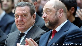 Deutschland SPD Gerhard Schröder & Martin Schulz 2014