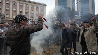 Albanien Anti-Regierungsproteste in Tirana (Reuters/F. Goga)