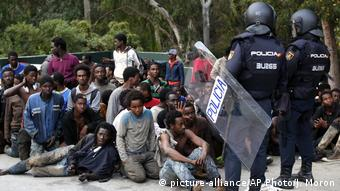 Spanien Marokko   Flüchtlinge in der Enklave Ceuta