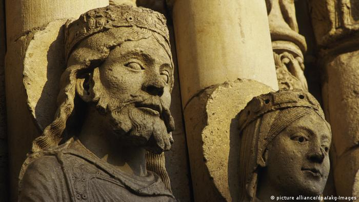 Царь Соломон и царица Савская. Барельеф в Шартрском соборе