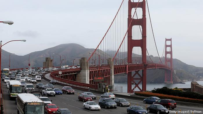 Golden Gate Bridge Verkehr Stau Verkehrschaos (Getty Images/J.Sullivan)