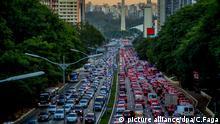 Verkehrschaos Sao Paulo Brasilien