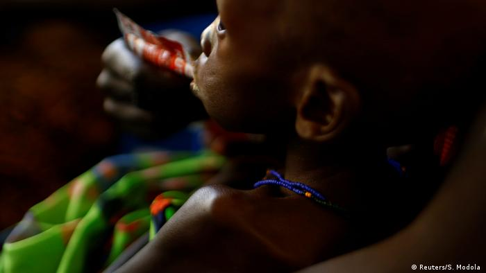 Südsudan Dürre Hunger Mutter mit Kind in Juba (Reuters/S. Modola )
