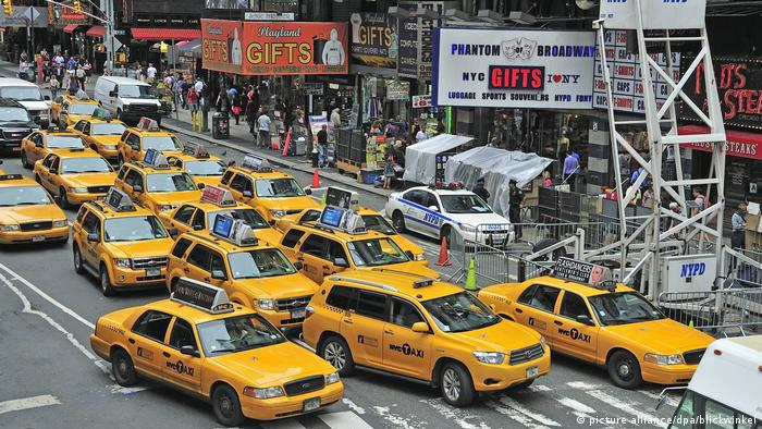 Rush-Hour Verkehrschaos USA New York (picture alliance/dpa/blickwinkel)