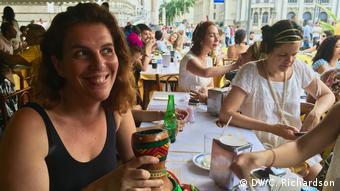 Brasilien Renata Rodrigues Gründerin des Carnival block Mulheres Rodadas (DW/C. Richardson)