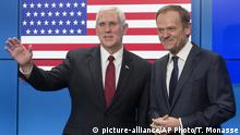 EU - USA Mike Pence & Donald Tusk in Brüssel