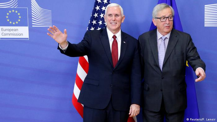 EU - USA Mike Pence & Jean-Claude Juncker in Brüssel (Reuters/F. Lenoir)