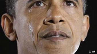 Democratic presidential candidate, Sen. Barack Obama, D-Ill., sheds tears as he talks about his grandmother