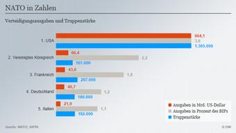 Infografik NATO Ausgaben Top 5 Deutsch