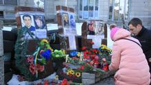 Bild von DW-Korrespondentin in der Ukraine Lilia Gryschko. Reportage über den dritten Jahrestag der Tragödie der Maidan-Proteste in Kiew 2014. Stichworte: Ukraine, Kiev, Maidan, Jahrestag, Morde