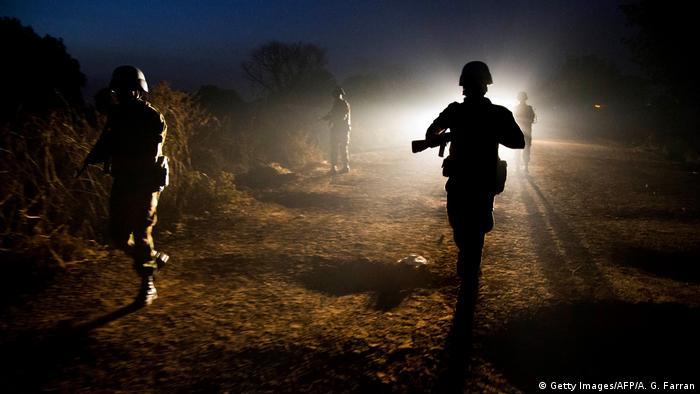 Süd-Sudan Patrouille Friedenstruppen