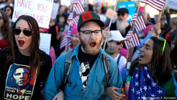 USA Proteste gegen Donald Trump in Washington