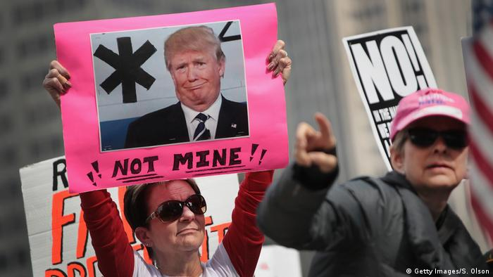 USA Proteste gegen Donald Trump in Chicago (Getty Images/S. Olson)