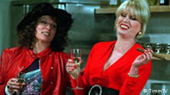 Both the stars of the comedy show Absolutely Fabulous: Joanna Lumley and Jennifer Saunders