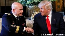 USA Generalleutnant H. R. McMaster und Dnald Trump in Palm Beach