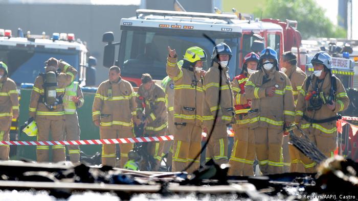Australien Flugzeugabsturz in Melbourne (Reuters/AAP/J. Castro)