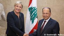 Libanon Marine Le Pen in Beirut | Michel Aoun