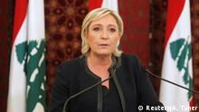 Libanon Marine Le Pen in Beirut