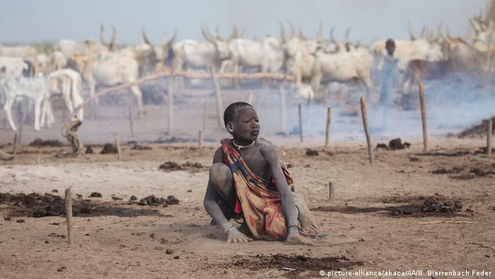 Child herder in South Sudan