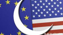 Symbolbild Islam Europa USA im Vergleich