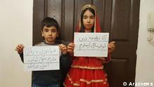 Iran Muttersprachen Protest von Kindern