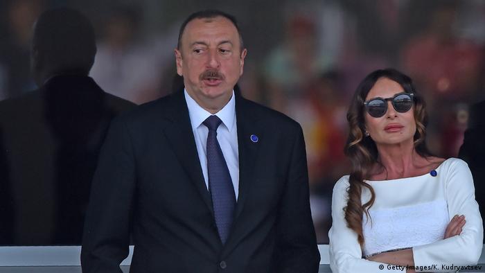 Aserbaidschan Präsident Ilham Alijew und Ehefrau Mehriban Aliyeva (Getty Images/K. Kudryavtsev)
