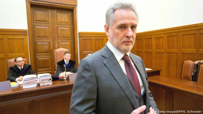 Дмитрий Фирташ в зале суда в Вене
