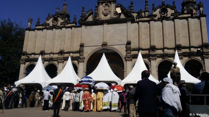 Äthiopien Staats-Begräbnis des großen Äthiopisten Richard Pankhurst in Addis Abeba