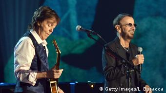 Both Beatles, Paul McCartney (l) and Ringo Starr, are also visual artists