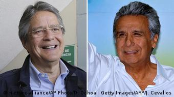 Kombobild Guillermo Lasso und Lenin Moreno (picture-alliance/AP Photo/D. Ochoa Getty Images/AFP/J. Cevallos)