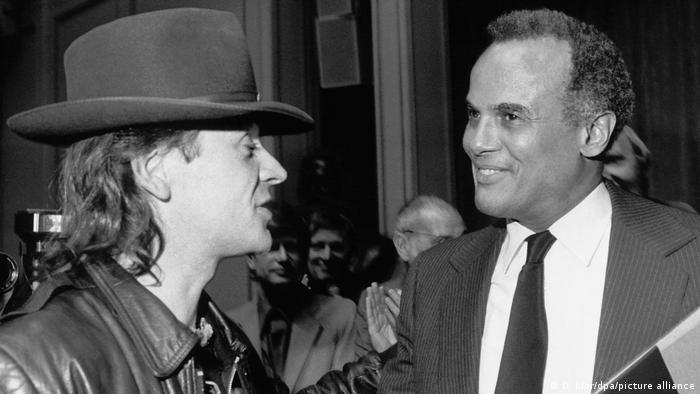 Udo Lindenberg and Harry Belafonte in Berlin (picture-alliance/dpa/D. Klar)