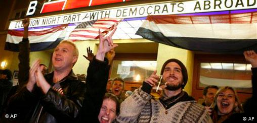Freude in Berlin über Wahlsieg Barack Obama US Wahl