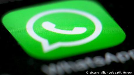 WhatsApp Messenger logo on a screen (picture-alliance/dpa/M. Gerten)
