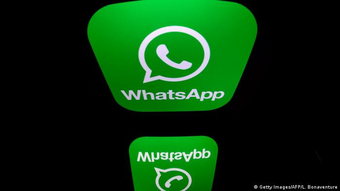 The logo of WhatsApp mobile messaging service (Getty Images/AFP/L. Bonaventure)