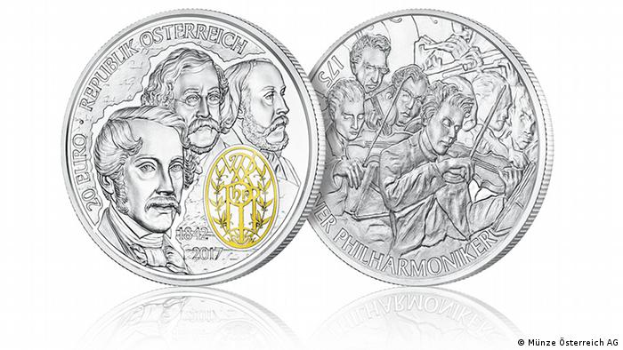 Coin commemorating the 175th anniversary of the Vienna Philharmonic (Münze Österreich AG)