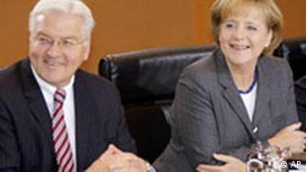 Deutschland USA Angela Merkel und Frank-Walter Steinmeier zu Obama