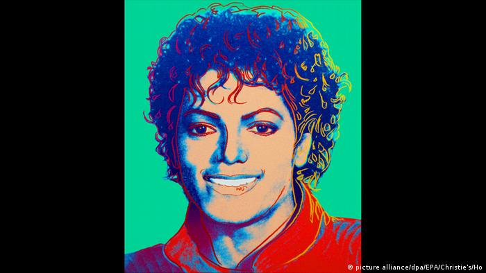 Andy Warhol portrait of Michael Jackson (picture alliance/dpa/EPA/Christie's/Ho)