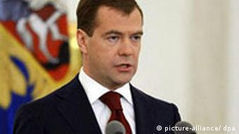 Russian President Dmitry Medvedev delivers his annual address to the parliament
