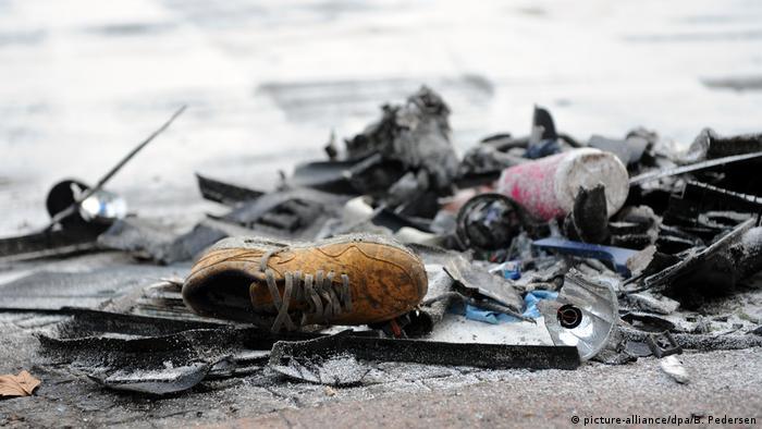 Обломки автомобилей после столкновения в районе Курфюрстендамма, февраль 2016 года