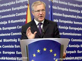 Erweiterungskommissar Rehn legt EU-Fortschrittsbericht vor (Archivfoto) dpa