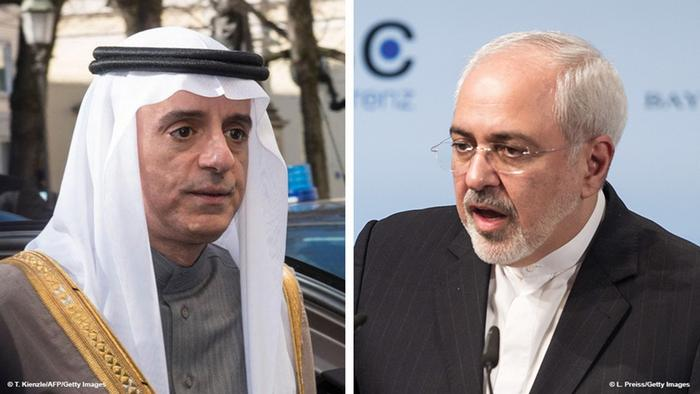 Kombi-Bild Adel al-Dschubeir und Mohammed Dschawad Sarif