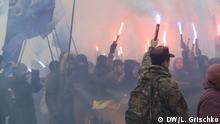 Ukraine Protestaktion in Kiev am 22.02 am Präsidialamt