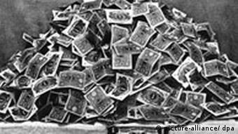 Berg von Geldscheinen