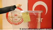 Türkei Referendum Stimmzettel
