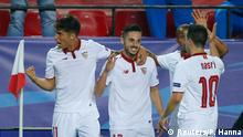 UEFA Champions League Sevilla vs. Leicester Torjubel nach 1:0