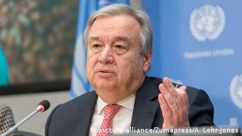 Guterres UN PK zu Hungersnöte in Afrika (picture-alliance/Zumapress/A. Lohr-Jones)