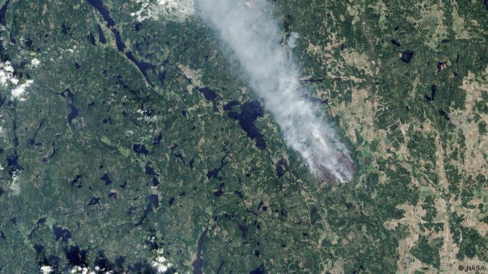 Satellite wildfire photo (NASA)