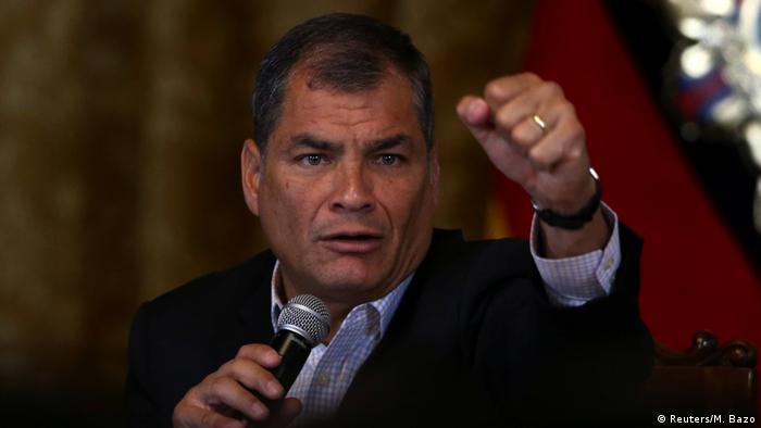 Ecuador PK Präsident Rafael Correa in Quito (Reuters/M. Bazo)
