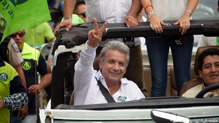 Ecuador Präsidentschaftskandidat Lenin Moreno (Getty Images/AFP/R. Buendia)