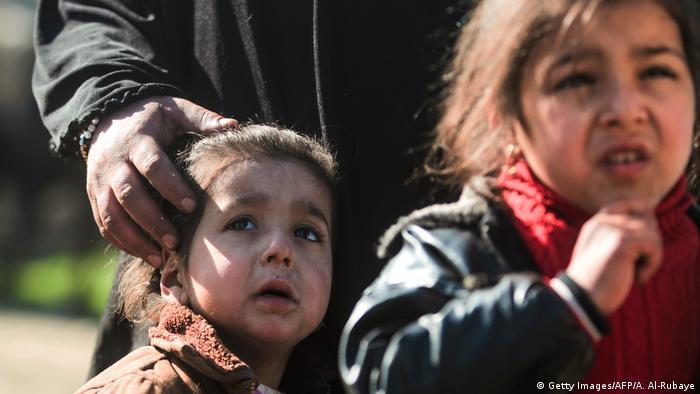 Irak Kampf um Mossul Flüchtlinge (Getty Images/AFP/A. Al-Rubaye)